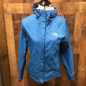 The North Face Hyvent 2.5L Jacket Teal Blue Small